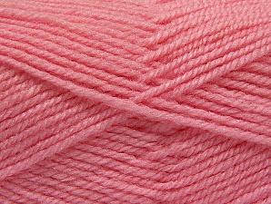 Fiber Content 50% Acrylic, 50% Wool, Light Pink, Brand Ice Yarns, Yarn Thickness 4 Medium Worsted, Afghan, Aran, fnt2-58379