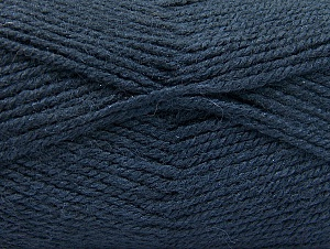 Fiber Content 50% Wool, 50% Acrylic, Navy, Brand Ice Yarns, Yarn Thickness 4 Medium  Worsted, Afghan, Aran, fnt2-58383