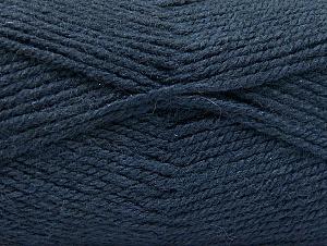 Fiber Content 50% Wool, 50% Acrylic, Navy, Brand Ice Yarns, Yarn Thickness 4 Medium Worsted, Afghan, Aran, fnt2-58383