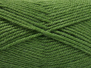 Fiber Content 50% Acrylic, 50% Wool, Brand Ice Yarns, Green, Yarn Thickness 4 Medium  Worsted, Afghan, Aran, fnt2-58384