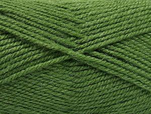 Fiber Content 50% Wool, 50% Acrylic, Brand Ice Yarns, Green, Yarn Thickness 4 Medium Worsted, Afghan, Aran, fnt2-58384