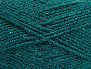 Fiber Content 50% Acrylic, 50% Wool, Teal, Brand Ice Yarns, Yarn Thickness 4 Medium  Worsted, Afghan, Aran, fnt2-58385