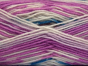Fiber Content 75% Acrylic, 25% Wool, White, Orchid, Brand Ice Yarns, Yarn Thickness 3 Light  DK, Light, Worsted, fnt2-58389