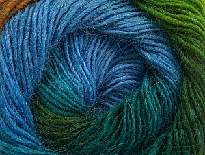 Fiber Content 60% Premium Acrylic, 20% Alpaca, 20% Wool, Turquoise, Brand Ice Yarns, Green Shades, Gold, Blue, Yarn Thickness 2 Fine  Sport, Baby, fnt2-58398