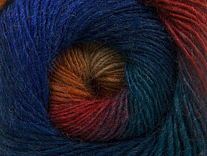 Fiber Content 60% Premium Acrylic, 20% Alpaca, 20% Wool, Teal, Red, Purple, Orange, Brand Ice Yarns, Blue, Yarn Thickness 2 Fine  Sport, Baby, fnt2-58399