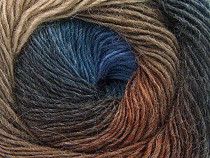 Fiber Content 60% Premium Acrylic, 20% Alpaca, 20% Wool, Brand Ice Yarns, Brown Shades, Blue Shades, Yarn Thickness 2 Fine  Sport, Baby, fnt2-58419