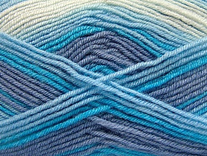 Fiber Content 75% Acrylic, 25% Wool, White, Lilac, Brand Ice Yarns, Blue, Yarn Thickness 3 Light  DK, Light, Worsted, fnt2-58424
