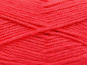 Fiber Content 50% Wool, 50% Acrylic, Brand Ice Yarns, Candy Pink, Yarn Thickness 4 Medium  Worsted, Afghan, Aran, fnt2-58453