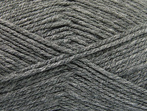 Worsted Fiber Content 100% Acrylic, Brand Ice Yarns, Grey, Yarn Thickness 4 Medium Worsted, Afghan, Aran, fnt2-58559