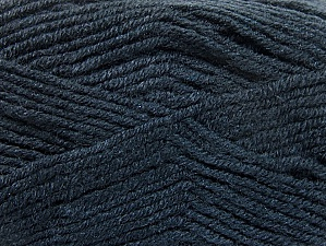 Fiber Content 50% Wool, 50% Acrylic, Brand Ice Yarns, Anthracite Black, Yarn Thickness 4 Medium  Worsted, Afghan, Aran, fnt2-58560