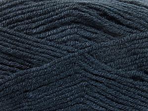 Fiber Content 50% Wool, 50% Acrylic, Brand Ice Yarns, Anthracite Black, Yarn Thickness 4 Medium  Worsted, Afghan, Aran, fnt2-58560