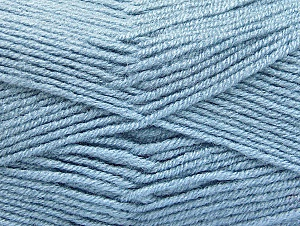 Fiber Content 50% Acrylic, 50% Wool, Light Blue, Brand Ice Yarns, Yarn Thickness 4 Medium  Worsted, Afghan, Aran, fnt2-58561