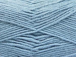 Fiber Content 50% Acrylic, 50% Wool, Light Blue, Brand Ice Yarns, Yarn Thickness 4 Medium Worsted, Afghan, Aran, fnt2-58561