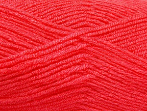 Fiber Content 50% Wool, 50% Acrylic, Salmon, Brand Ice Yarns, Yarn Thickness 4 Medium  Worsted, Afghan, Aran, fnt2-58563