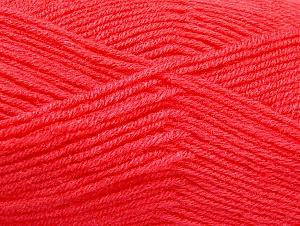 Fiber Content 50% Acrylic, 50% Wool, Salmon, Brand Ice Yarns, Yarn Thickness 4 Medium Worsted, Afghan, Aran, fnt2-58563
