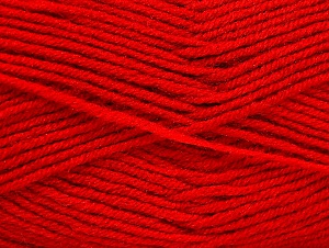 Fiber Content 50% Wool, 50% Acrylic, Red, Brand Ice Yarns, Yarn Thickness 4 Medium  Worsted, Afghan, Aran, fnt2-58564
