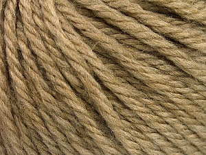 Fiber Content 60% Acrylic, 40% Wool, Light Camel, Brand Ice Yarns, Yarn Thickness 6 SuperBulky  Bulky, Roving, fnt2-58566
