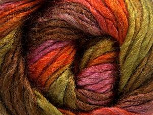Fiber Content 50% Wool, 50% Acrylic, Rose Pink, Orange, Brand Ice Yarns, Green, Brown, Yarn Thickness 5 Bulky  Chunky, Craft, Rug, fnt2-58582