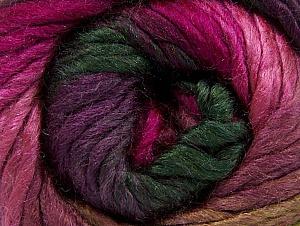 Fiber Content 50% Acrylic, 50% Wool, Purple, Pink, Brand Ice Yarns, Fuchsia, Dark Green, Yarn Thickness 5 Bulky  Chunky, Craft, Rug, fnt2-58584