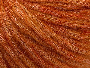 Fiber Content 40% Acrylic, 30% Wool, 30% Polyamide, Orange Melange, Brand Ice Yarns, Yarn Thickness 4 Medium  Worsted, Afghan, Aran, fnt2-58676