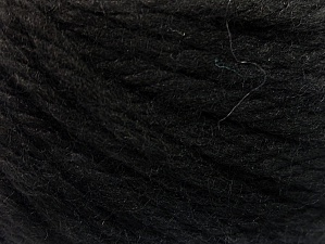 Fiber Content 60% Acrylic, 40% Wool, Brand Ice Yarns, Black, Yarn Thickness 6 SuperBulky  Bulky, Roving, fnt2-58681