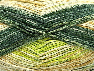 Fiber Content 50% Premium Acrylic, 50% Cotton, Brand Ice Yarns, Green Shades, Yarn Thickness 2 Fine  Sport, Baby, fnt2-58689