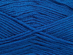 Fiber Content 50% Wool, 50% Acrylic, Brand Ice Yarns, Blue, Yarn Thickness 4 Medium  Worsted, Afghan, Aran, fnt2-58692
