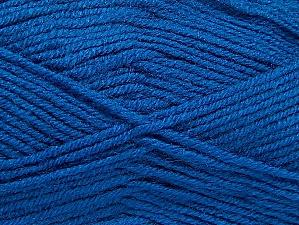 Fiber Content 50% Wool, 50% Acrylic, Brand Ice Yarns, Blue, Yarn Thickness 4 Medium Worsted, Afghan, Aran, fnt2-58692