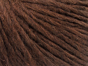 Fiber Content 50% Merino Wool, 25% Alpaca, 25% Acrylic, Brand Ice Yarns, Dark Brown, Yarn Thickness 4 Medium  Worsted, Afghan, Aran, fnt2-59038