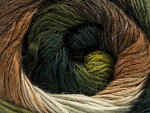 Fiber Content 60% Premium Acrylic, 20% Alpaca, 20% Wool, White, Brand Ice Yarns, Green Shades, Brown Shades, Yarn Thickness 2 Fine  Sport, Baby, fnt2-59053