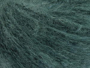 Fiber Content 70% Acrylic, 20% Mohair, 10% Wool, Brand Ice Yarns, Hunter Green, Yarn Thickness 3 Light  DK, Light, Worsted, fnt2-59088