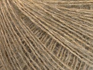 Fiber Content 55% Acrylic, 5% Polyester, 15% Alpaca, 15% Wool, 10% Viscose, Brand Ice Yarns, Beige, Yarn Thickness 2 Fine  Sport, Baby, fnt2-59207
