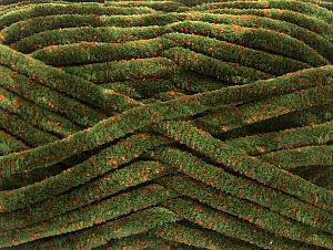Fiber Content 75% Micro Fiber, 25% Acrylic, Orange, Brand Ice Yarns, Green, Yarn Thickness 4 Medium  Worsted, Afghan, Aran, fnt2-59324