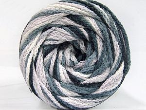 Fiber Content 50% Acrylic, 50% Polyamide, White, Brand Ice Yarns, Grey, Black, Yarn Thickness 5 Bulky  Chunky, Craft, Rug, fnt2-59344