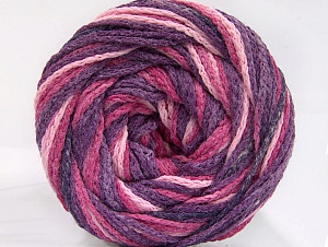 Fiber Content 50% Acrylic, 50% Polyamide, Purple, Pink Shades, Brand Ice Yarns, Yarn Thickness 5 Bulky  Chunky, Craft, Rug, fnt2-59346