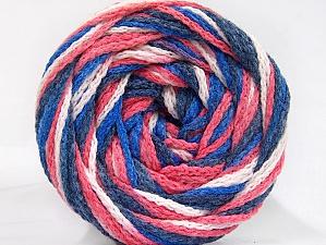 Fiber Content 50% Polyamide, 50% Acrylic, White, Salmon, Navy, Brand Ice Yarns, Blue, Yarn Thickness 5 Bulky  Chunky, Craft, Rug, fnt2-59347