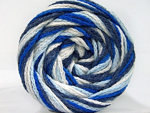 Fiber Content 50% Acrylic, 50% Polyamide, White, Navy, Brand Ice Yarns, Blue Shades, Yarn Thickness 5 Bulky  Chunky, Craft, Rug, fnt2-59350