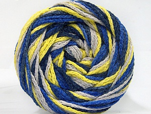 Fiber Content 50% Acrylic, 50% Polyamide, Neon Yellow, Brand Ice Yarns, Blue Shades, Beige, Yarn Thickness 5 Bulky  Chunky, Craft, Rug, fnt2-59352