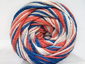 Fiber Content 50% Acrylic, 50% Polyamide, White, Salmon, Brand Ice Yarns, Blue, Yarn Thickness 5 Bulky  Chunky, Craft, Rug, fnt2-59355