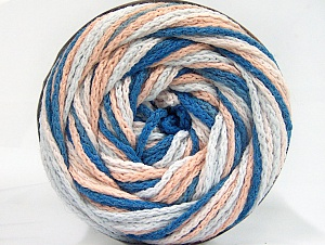 Fiber Content 50% Acrylic, 50% Polyamide, Light Salmon, Brand Ice Yarns, Blue, Beige, Yarn Thickness 5 Bulky  Chunky, Craft, Rug, fnt2-59356