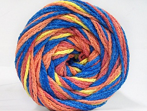Fiber Content 50% Acrylic, 50% Polyamide, Yellow, Salmon Shades, Brand Ice Yarns, Blue, Yarn Thickness 5 Bulky  Chunky, Craft, Rug, fnt2-59361