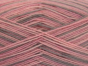 Fiber Content 75% Superwash Wool, 25% Polyamide, Pink Shades, Light Camel, Brand Ice Yarns, Yarn Thickness 1 SuperFine  Sock, Fingering, Baby, fnt2-59494