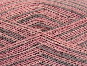Fiber Content 75% Superwash Wool, 25% Polyamide, Pink Shades, Light Camel, Brand Ice Yarns, Yarn Thickness 1 SuperFine  Sock, Fingering, Baby, fnt2-59494