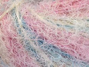 Fiber Content 40% Viscose, 30% Wool, 30% Polyamide, White, Pink, Lilac, Brand Ice Yarns, Blue, Yarn Thickness 5 Bulky  Chunky, Craft, Rug, fnt2-59582