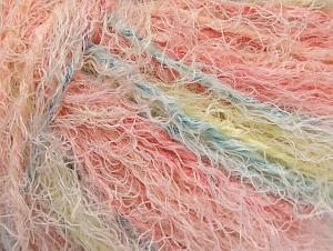 Fiber Content 40% Viscose, 30% Wool, 30% Polyamide, Pink Shades, Light Yellow, Brand Ice Yarns, Baby Blue, Yarn Thickness 5 Bulky  Chunky, Craft, Rug, fnt2-59583