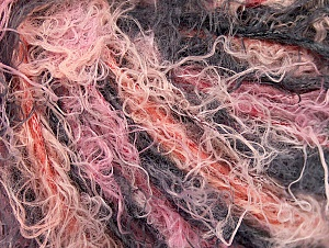 Fiber Content 40% Viscose, 30% Wool, 30% Polyamide, Salmon, Pink, Brand Ice Yarns, Black, Yarn Thickness 5 Bulky  Chunky, Craft, Rug, fnt2-59585