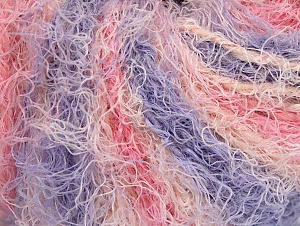 Fiber Content 40% Viscose, 30% Wool, 30% Polyamide, Pink, Lilac, Light Salmon, Brand Ice Yarns, Yarn Thickness 5 Bulky  Chunky, Craft, Rug, fnt2-59590