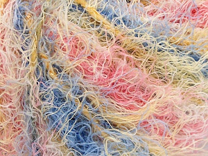 Fiber Content 40% Viscose, 30% Wool, 30% Polyamide, Yellow, Salmon, Pink, Brand Ice Yarns, Blue, Yarn Thickness 5 Bulky  Chunky, Craft, Rug, fnt2-59591