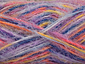 Fiber Content 60% Acrylic, 40% Polyamide, Yellow, Orange, Lilac, Brand Ice Yarns, Blue, Yarn Thickness 4 Medium  Worsted, Afghan, Aran, fnt2-59690