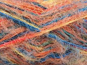 Fiber Content 60% Acrylic, 40% Polyamide, Yellow, Turquoise, Salmon, Orange, Brand Ice Yarns, Yarn Thickness 4 Medium  Worsted, Afghan, Aran, fnt2-59693